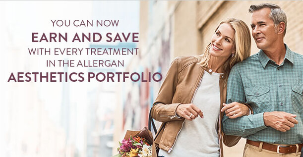 earn points to save on botox and facial filler treatments